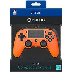 Nacon - Mando Compacto para PS4, Naranja