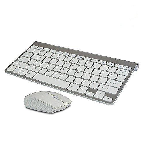 Multimedia mini teclado inalámbrico ratón inalámbrico