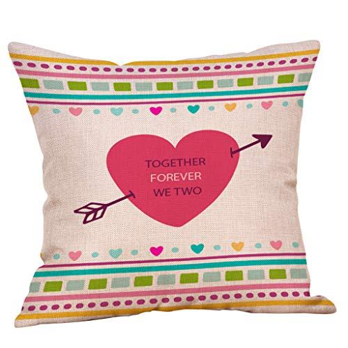 Littay Überwurfkissenbezüge, Happy Valentine's Day Throw Kissenbezug Sweet Love quadratisch 18x18inch F