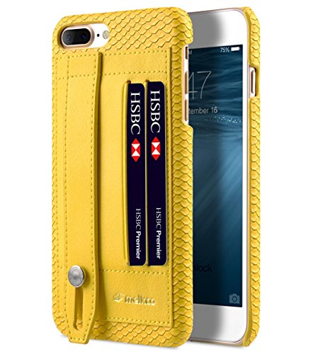 Apple Iphone 7 Melkco Jacka Type Premium Leather Case with Premium Leather Hand Crafted Good Protection,Premium Feel-Red LC Yellow 1