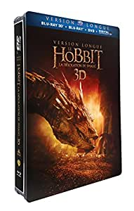 Le Hobbit : la désolation de Smaug - version longue -  Blu-ray 3D + Blu-ray + DVD + DIGITAL Ultraviolet  - Edition Limitée Steelbook(TM) Jumbo