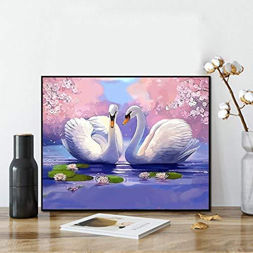 zlhcich Dynamische Malerei Landschaft Ölgemälde GX056 Liebe 70 * 90cm Rahmenlos - Minnie Maus-markt