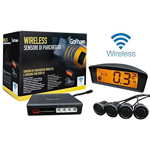 Kit 4 sensori parcheggio wireless con display