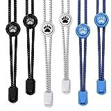 Bearformance Schnürsenkel mit Schnellverschluss Elastische Sportschnürsenkel - Schnellschnürsystem schleifenlos ohne binden (Weiß, Blau, Schwarz)