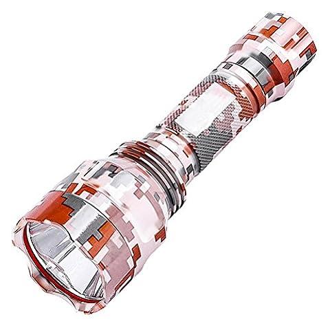 GJY LED LAMPE DE POCHELampe De Poche Led Lampe De Poche Super Lumineux Longue Distance Camouflage Extérieur Maison Rechargeable Ride Mini Étanche