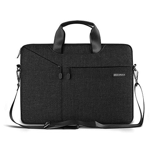 3 in 1 Tasche für Laptop / Tablet - Evershop Handtasche Schultertasche Aktenkoffer für Macbook Air Pro / Notebook / Oberfläche mit Bildschirmdiagonale 15,4 Zoll (schwarz)