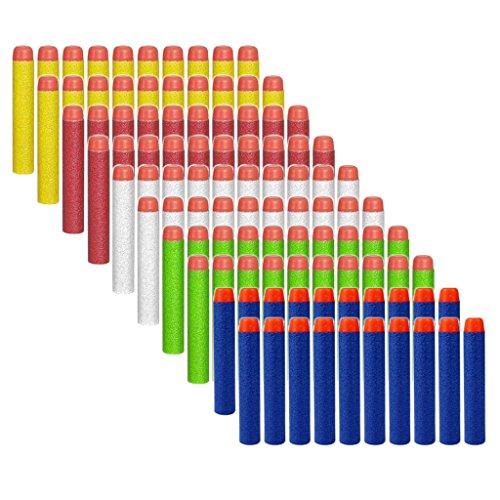Preisvergleich Produktbild HONGCI 100er 7,2cm Darts Pfeile für alle Nerf Gun N-Strike Elite Blaster, Nerf Zubehör (5 Farben)
