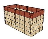 """Aufbausatz mit Stabilisierungs-Set für Anzucht-Frühbeet od. Hochbeet Profiline""""""""terracotta"""""""" (130x6"""