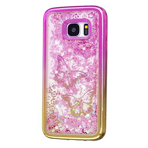 Vandot Etui Transparent Case pour Samsung Galaxy S7 Edge Coque de Protection en TPU Gel Invisible avec Absorption de Chocs Etui TPU Silicone Case Ultra Slim Thin Hull pour Samsung Galaxy S7 Edge Soupl Placage-04