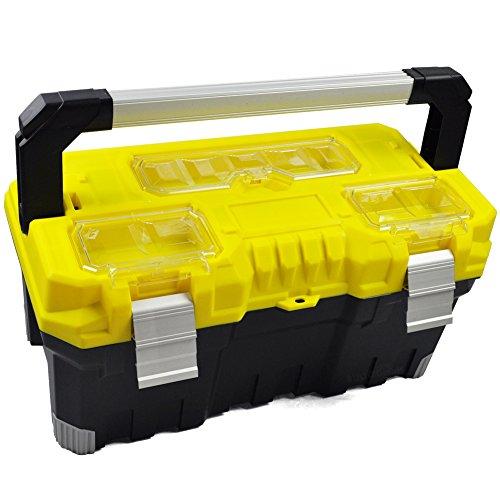 BULTO Profi-Werkzeugkoffer T22 mit Alu-Griff - schwarz/gelb - 554 x 266 x 276 mm