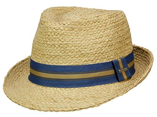 rren - Grob verarbeiteter Basthut Mandalo für herren - S (Stroh-hüte Für Männer)