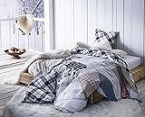 NORDICA FOREVER 140x200 cm - SOLDES visualisez tous nos soldes dans notre boutique Doran Sou Amazon - Parure de lit pour 1 personne : Housse de couette 140x200 cm + Taie d'oreiller 65x65 cm