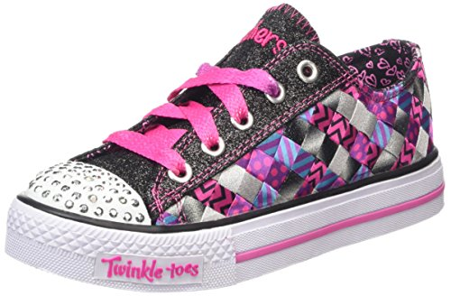 Twinkle Toes By Skechers Shuffles- Jumpstarts Stoff Turnschuhe Black/Hot Pink