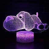 Lampada 3D LED-Lampe mit 7 Farben Touch Mood Lampada Regalo di Natale