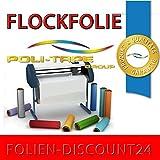 (EUR 25,80 / Quadratmeter) FLOCKFOLIE TbT FLOCK 210 SIGNAL RED BÜGELFOLIE TOP ! Preistip Flex Flock 1 M x 50 cm Politape