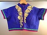 Womens Latest Blue Banglori Silk Designer Blouse (30005_Color_BLUE_Banglori Silk)