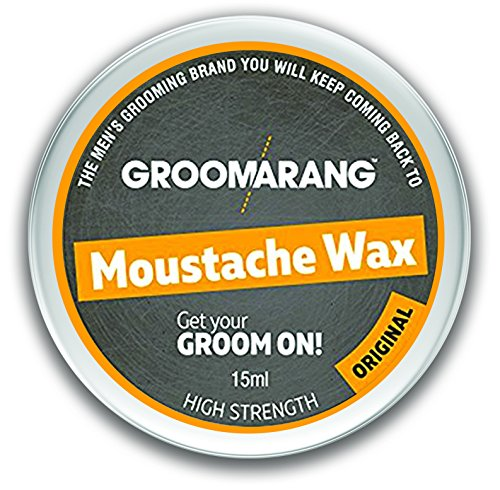 Groomarang Schnurrbart & Bart Wachs Extra stark Original 100 % natürliche Haarpflege Bio & Vegan 15ml