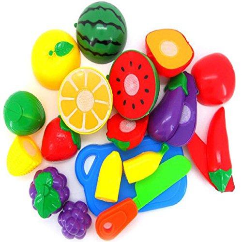 Juguete del bebé, RETUROM 11pcs Moda de corte de frutas vegetales para niños Kid joya educativa de juguete