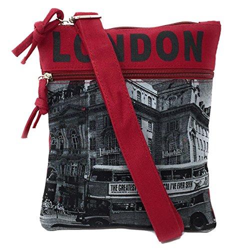 Robin Ruth London Bus Rote und graue kleine Passport-Tasche -