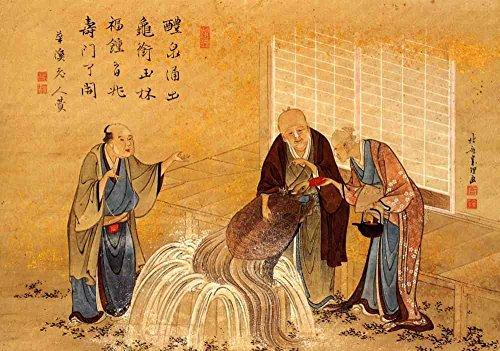 Das Museum Outlet-Hokusai-Die thouthand Jahren Schildkröte-Leinwanddruck Online kaufen (61x 81,3cm)