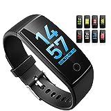 OMORC Montre Connectée GPS avec Ecran Couleur Tactile, Etanche IP67 Fitness Tracker d'Activité Bluetooth avec Cardiofréquencemètres, Podomètre, Calorie,Notification,Rappel Sédentaire etc