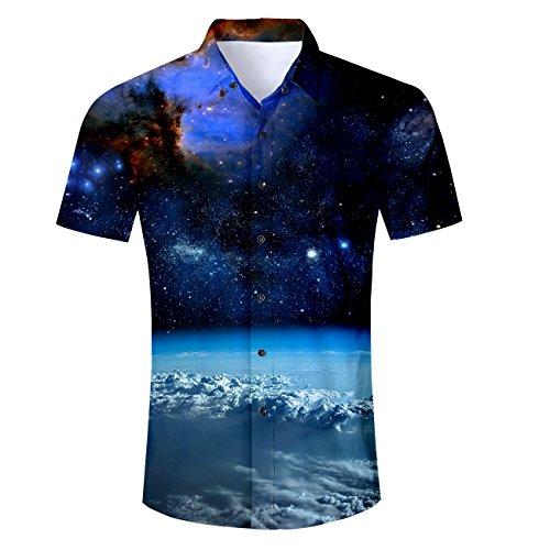 TUONROAD Hawaiihemd Kaufen, Urlaub Strand Hawaiihemd Shirt,Freizeithemd Kurzarm mit Modischem Druck