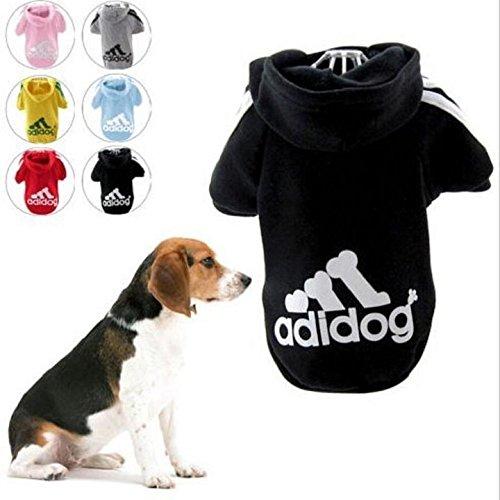 """KayMayn Hunde-Pullover mit Kapuze, Aufschrift \""""Adidog\"""", sportlicher Look, 7 Farben, in den Größen S bis 9XL"""