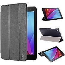 tinxi® Huawei T1 7,0 Funda, PU artificial piel Funda para Huawei MediaPad T1 7.0 Tablet 7 pulgadas (17,78cm) protectora Cover Tablet Notebook Case con el negro fondo