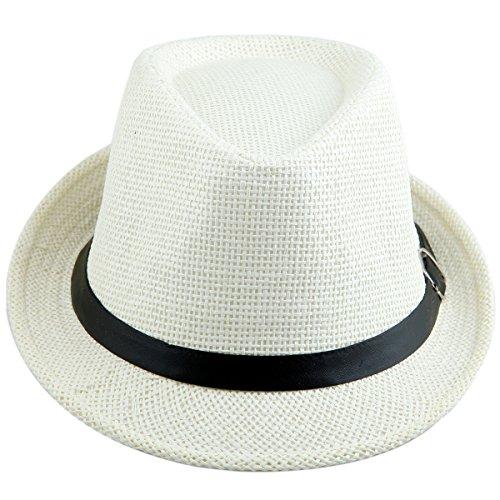 Shanxing Fedora Hut Herren Trilbyhut Panamahut Sonnenhut Hüte Jazz Kappe, 022-Beige, one size