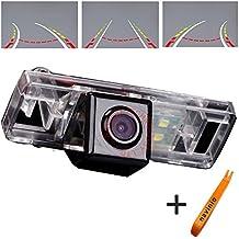 Navinio 170 ° Visualización Invertir la pista línea de la cámara de la regla con el volante en movimiento trasero copia de seguridad de la cámara de visión nocturna HD CCD para Nissan Sunny/ Qashqai/ X-Trail /Geniss /Pathfinder 2005-2011 / Dualis/ Navara/Juke