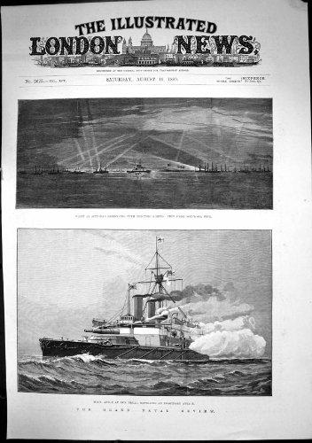 Großartiges MarineGewehr-Bohrgerät der zusammenfassungs-HMS Anson, das Angriff 1889 Abstößt