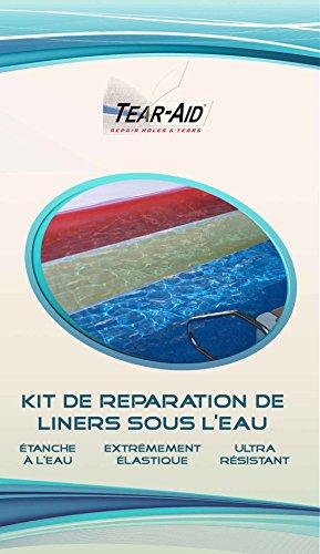 Kit de réparation instantanée et sans colle de liners de piscine et de bass