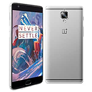 Oneplus 3 Case - HOTCOOL [Anti Scratch & Shock] Ultra Thin Transparent TPU Silicone Gel Protective Cover Case For Oneplus 3 Smartphone, Crystal-Clear