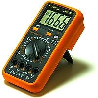 ULTRICS® LCD multimetro digitale voltmetro amperometro AMP OHM VOLT diodo AC DC Interruttore Checker continuità Capacitanza Tester Buzzer con puntali