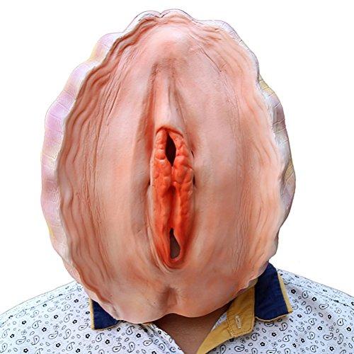 Oulii maschera testa in lattice maschera horror halloween costume adulto (conchiglia)
