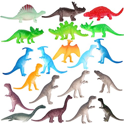 Zantec 72PCS Mini Kinder realistische schauende Dinosaurier PVC Plastik sortierte Dinosaurier pädagogische Spielwaren (Dinosaurier Kostüm Für Realistische Kinder)