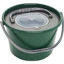 Plastilys-Cubo vivero de pesca en vivo con cesta Verde verde Talla:18 L