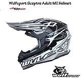New Style WULFSPORT sceptre Adult Motocross Motorcycle Motorbike Off Road Racing ATV Enduro Helmet Black (S)