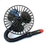 DaoRier Auto Kfz Ventilator Raum-Lüfter Luft-Erfrischer Lüftung Gebläse Klimaanlage Fan Klemmbar Zigarettenanzünder 12V/15W Schwarz