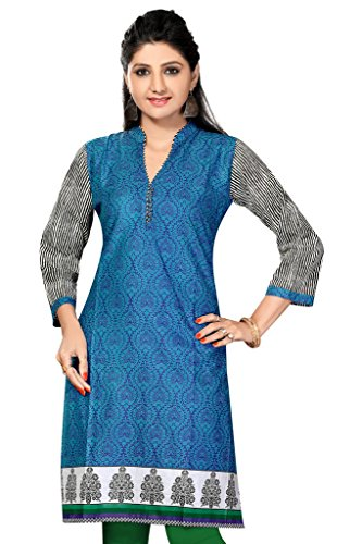 SATRAT's Women Girls Casual Regular Long Knee Length Denim Blue Cotton Grey...