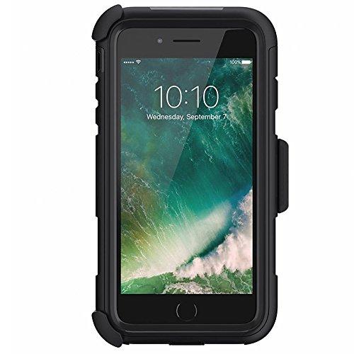 Griffin Survivor Summit Custodia per iPhone 7/7 Plus, Nero Nero