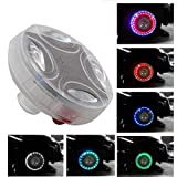 Car Wheel Led Lights, MASO Colorful LED Solar Wheel Hub Tire Lights 4 Modes Flash Wheel Light, Waterproof Tyre Valve Cap Strobe Lamp Kit for Car Vehicle Motorcycle