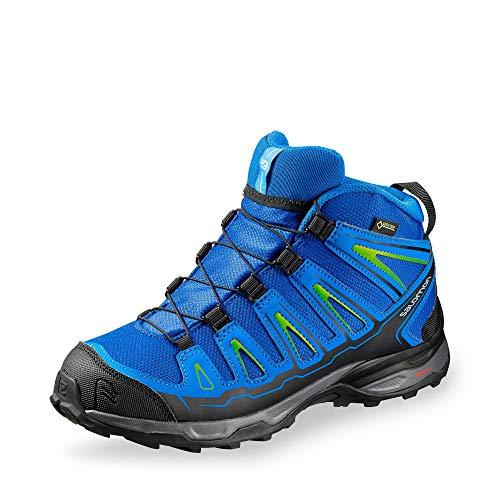 SALOMON Unisex-Kinder X-Ultra Mid GTX J Trekking- & Wanderhalbschuhe, Blau Yonder/Bright Blue/Granny Gree 000, 38 EU -