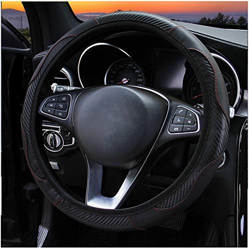 FSXTLLL Coprivolante per Auto in Pelle in Fibra di Carbonio, per Opel Astra g/gtc/j/h Corsa Antara Meriva Zafira Insignia Mokka KX3 KX5