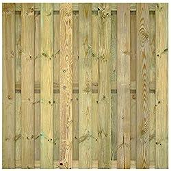 FATMOOSE Sichtschutzzaun Gartenzaun SolidFence Grande Zaun Holzzaun 180x180 cm