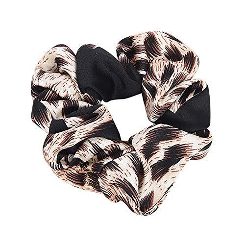 Haargummis Frauen elastisches Haar Seil Ring Krawatte Scrunchie Pferdeschwanz Inhaber Haarband Stirnband Multicolor(Schwarz,free)