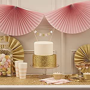 Ginger Ray rose pastel Wedding / Parti ventilateur Bunting - Pastel Perfection
