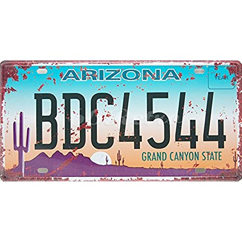 Arizona BDC4544 Grand Canyon State US Auto License Plate Vintage Wall Decorative Sign  sc 1 st  Amazon UK & Vintage Number Plates: Amazon.co.uk