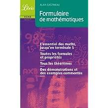Formulaires de mathématiques