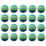 WINOMO 20pcs Golf Swing Training Aids Indoor Practice Sponge Foam Balls for Beginners Kids and Amateurs (Blue)